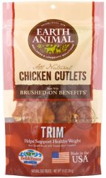 Earth Animal 857253003582 Trim Chicken Cutlet Treats 8 oz