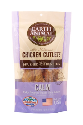 Earth Animal 857253003599 Calm USA Chicken Jerky Dog Treats 8 oz