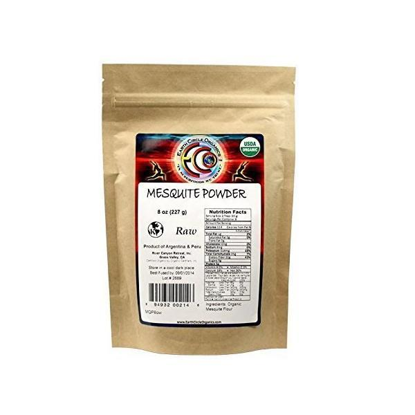 Earth Circle Organics ECW1743434 8 oz Mesquite Powder Organic