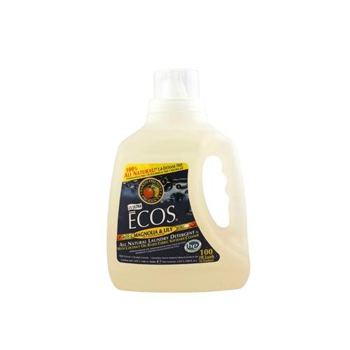 Earth Friendly 1213065 Ecos Ultra 2x All Natural Laundry Detergent Magnolia & Lily - 100 oz