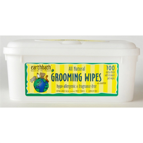 Earthbath 602644023003 Grooming Wipes Hypo Allergenic DOG 100 ct
