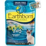 Earthborn 40071620 3 oz Grain-Free Riptide Tuna Pouch Cat Food