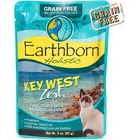 Earthborn 40071625 3 oz Grain-Free Key West Tuna Pouch Cat Food