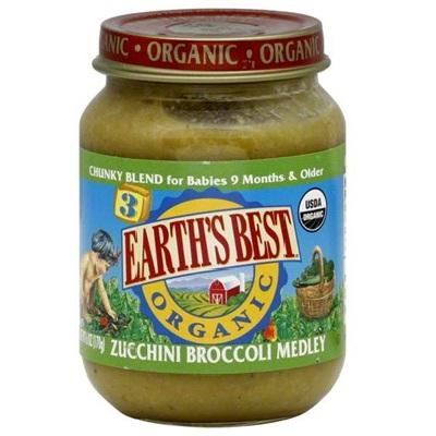 Earths Best Baby Foods BG12446 Earths Best Baby Foods Zuc-Broccoli Medley - 12x6OZ