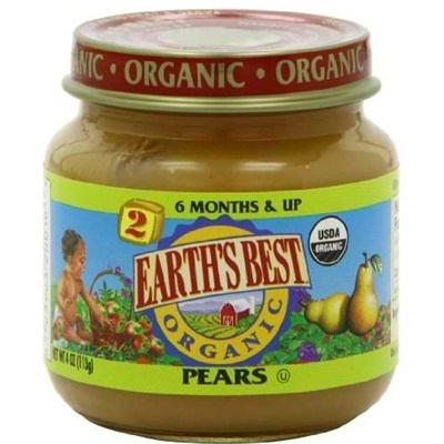Earths Best Baby Foods BG12459 Earths Best Baby Foods Baby Pear Puree - 12x4OZ
