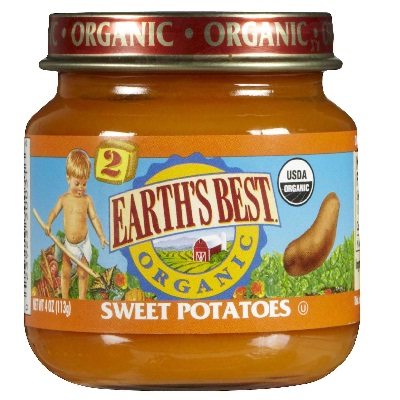 Earths Best Baby Foods BG12464 Earths Best Baby Foods Baby Sweet Potatoes - 12x4OZ
