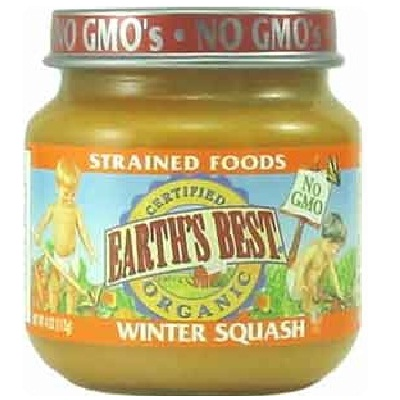 Earths Best Baby Foods BG12467 Earths Best Baby Foods Baby Wntr Squash - 12x4OZ