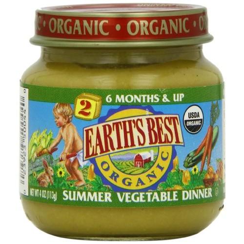 Earths Best Baby Foods BG12472 Earths Best Baby Foods Baby Smr Veg Dnnr - 12x4OZ