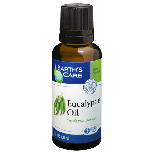 Earths Care 1566231 1 oz 100 Percent Pure Natural Eucalyptus Essential Oil