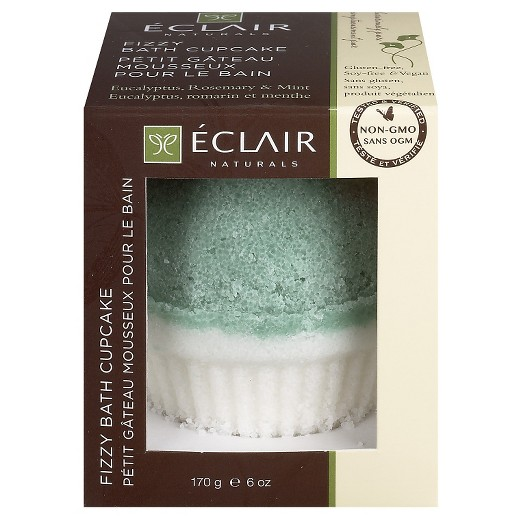 Eclair Naturals 1806116 6 oz Eucalyptus Rosemary & Mint Fizzy Bath Cupcake