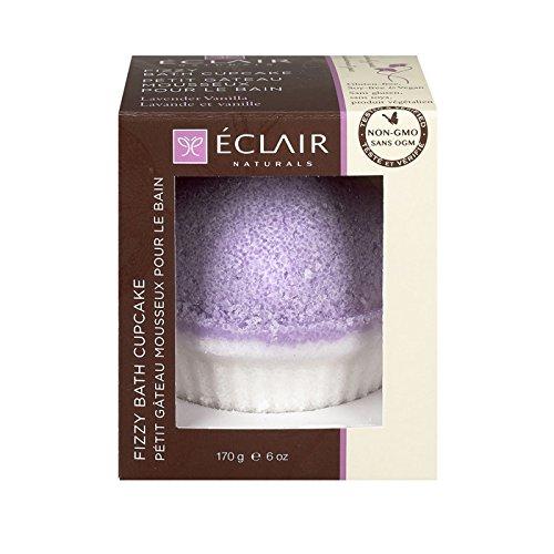Eclair Naturals 1806207 6 oz Lavender & Vanilla Fizzy Bath Cupcake