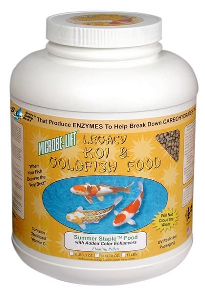 Eco Labs ECLMLLSSLG Eco Labs MLLSSLG Microbe Lift Summer Staple 36% Protein Fish Food 6.8-Pound