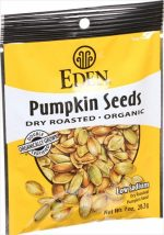 Eden Foods Organic Pocket Snacks - Pumpkin Seeds - Dry Roasted And Salted - 1 Ounce - Case Of 12
