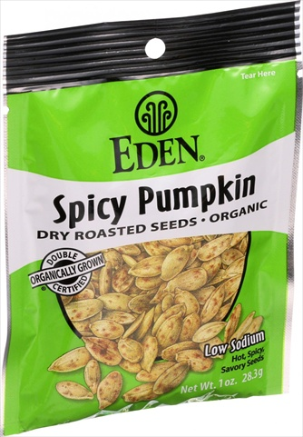 Eden Foods Organic Pumpkin Seeds - Dry Roasted - Spicy - 1 Ounce - Case Of 12