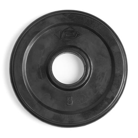 Element Fitness E-3761 2 in. Virgin Rubber Commercial Olympic 3 Grip Handle Plate - Black