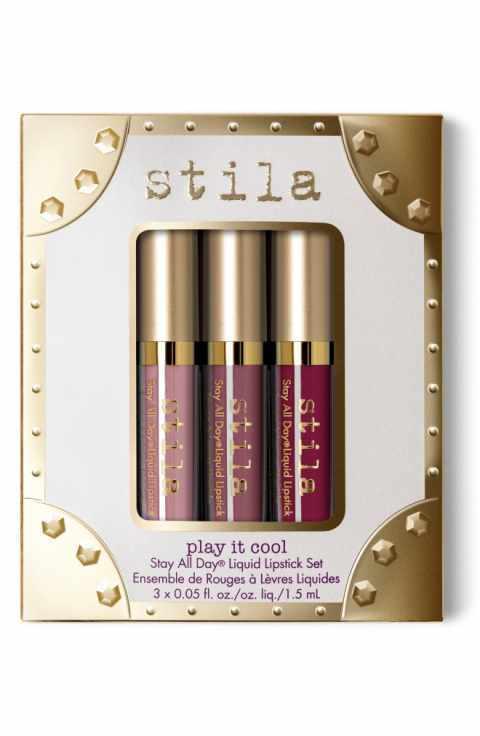 Elizabeth Arden EA16 Cool Palette Mini Makeup Set in Beige Toilette Spray Gold Satchel