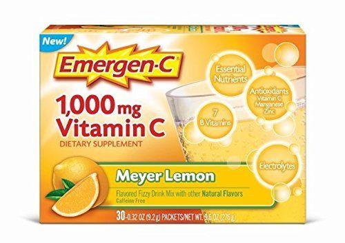 Emergen-C 1699230 Meyer Lemon Original Vitamin-C Emergen-C Drink - Pack of 3