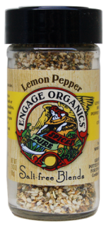 Engage Organics LP 30 2.43 oz. Lemon Pepper Salt-Free Blends