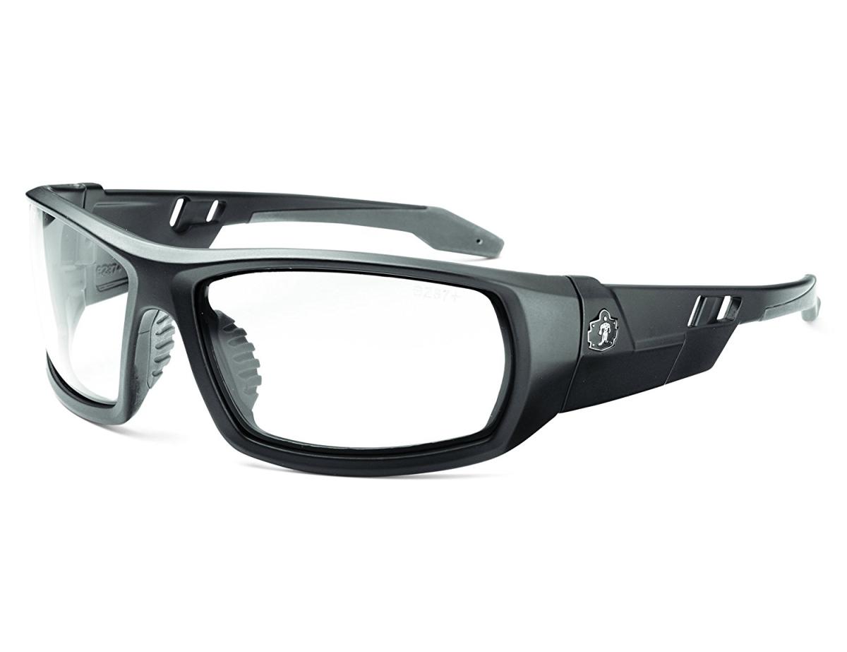 Ergodyne Corporation 50400 Skullerz Odin Safety Glasses - Matte Black Frame Clear Lens & Nylon