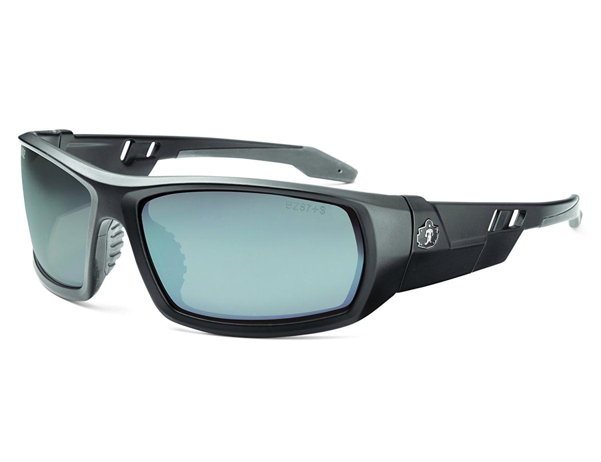Ergodyne Corporation 50442 Skullerz Odin Safety Glasses - Matte Black Frame silver Lens & Nylon