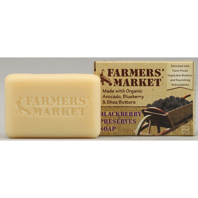 Farmers Market 1076561 Natural Bar Soap Blackberry Preserves - 5.5 oz