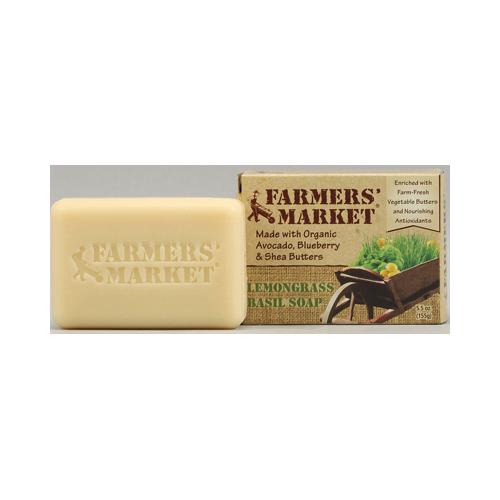 Farmers Market 856138 Farmers Market Natural Bar Soap Lemongrass Basil - 5.5 oz