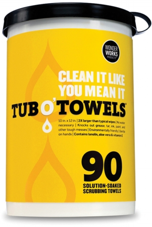 Federal Process TW90 Tub O Towels 10 in. x 12 in. 90-Pkg