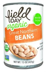Field Day 1786995 15 oz Organic Great Northern Beans - Case of 12