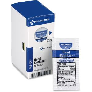 First Aid Only FAE4007 0.9 g Hand Sanitizer Packets for SmartCompliance First Aid Kits - 10 per Box