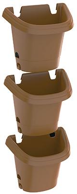 Fiskars 482125-1001 Chocolate Hanging Garden System