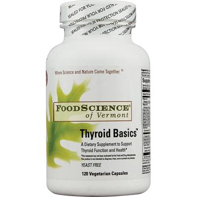 Food Science Labs 1029644 FoodScience of Vermont Thyroid Basics - 120 Vegetarian Capsules