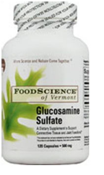 FoodScience of Vermont Joint & Muscle Support Glucosamine Sulfate 500 mg 120 capsules 208545