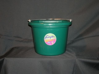 Fortex Industries Flat Back Bucket Dark Green 8 Quart - 1301823