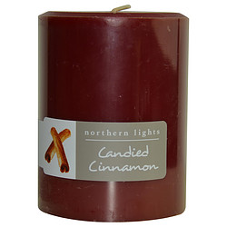 FragranceNet 287259 Candied Cinnamon 3 x 4 in. One Pillar Candle