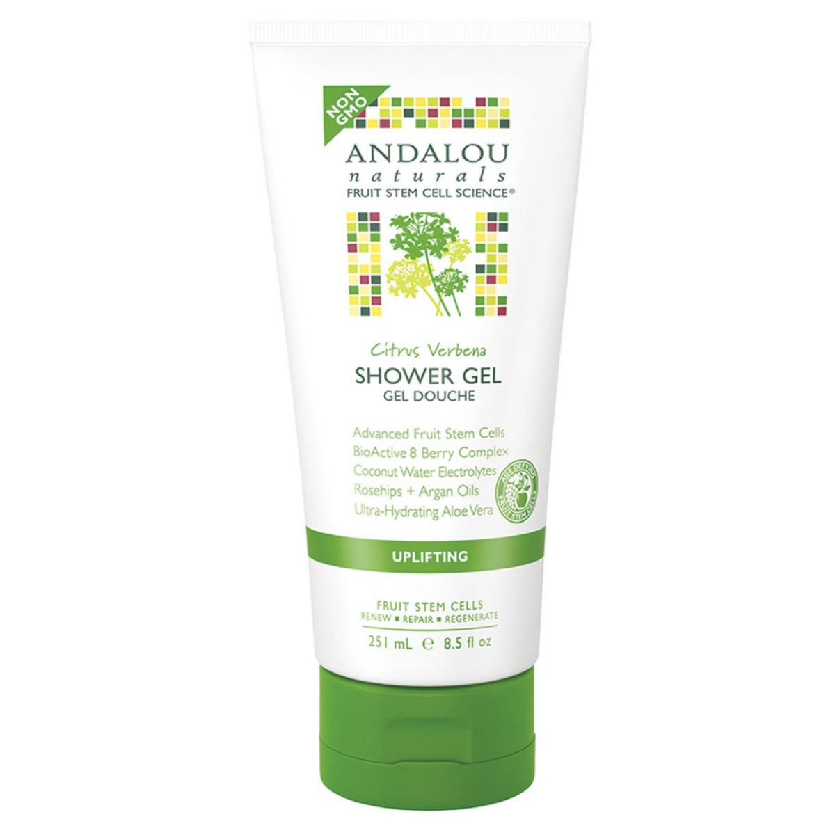 Frontier 228558 8.5 fl oz Andalou Naturals Uplifting Citrus Verbena Shower Gel