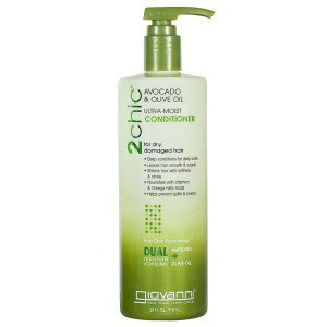 Frontier 228670 24 fl oz Giovanni 2chic Collection Ultra-Moist Avocado & Olive Oil Dual Moisture Complex Hair Care Conditioner