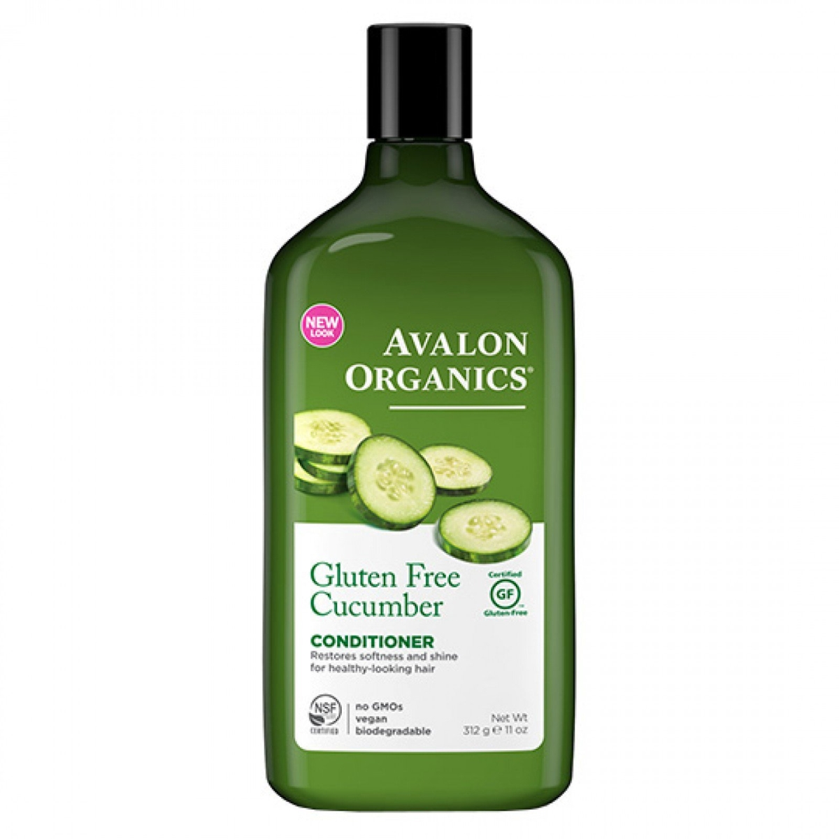 Frontier 230275 11 fl oz Avalon Organics Hair & Body Care Replenishing Cucumber Conditioner