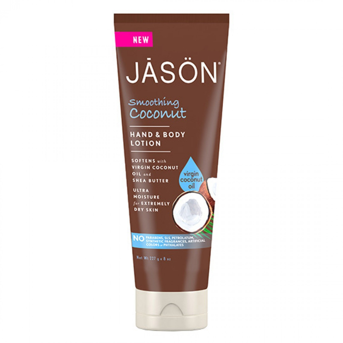Frontier 230286 8 fl oz Jason Hand & Body Care Smoothing Coconut Lotions