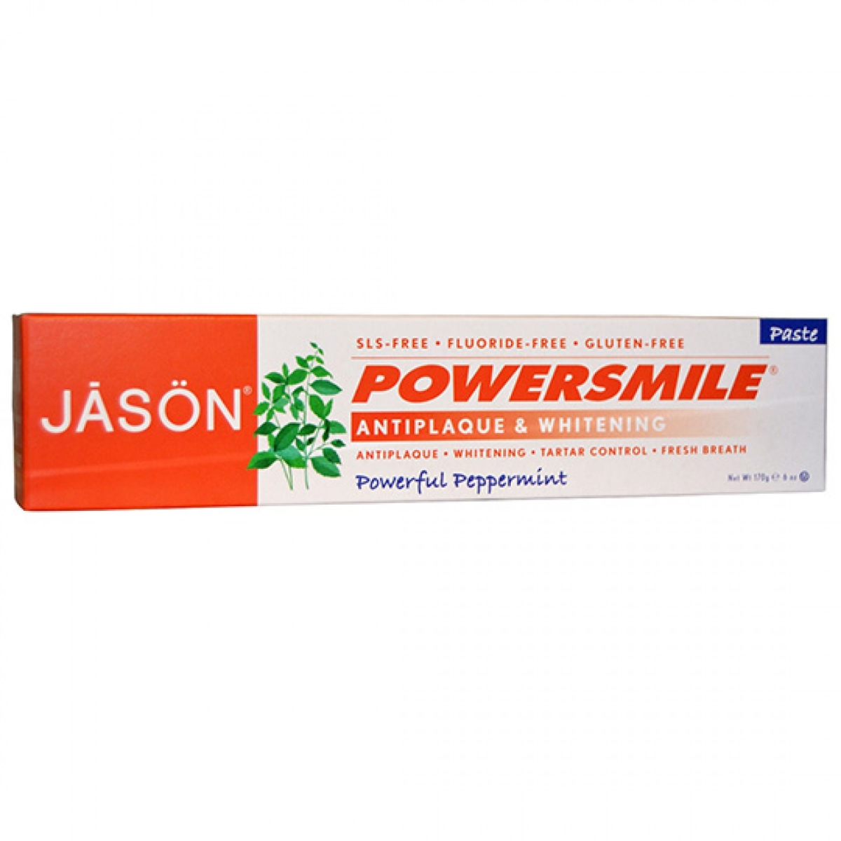 Frontier 230288 3 oz Jason Powersmile Whitening Fluoride - Free Toothpaste