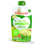 Frontier 230805 4.22 oz Happy Family Brands Stage 4 Happy Tot Organics Zucchini Pear Chickpeas & Kale Love My Veggies