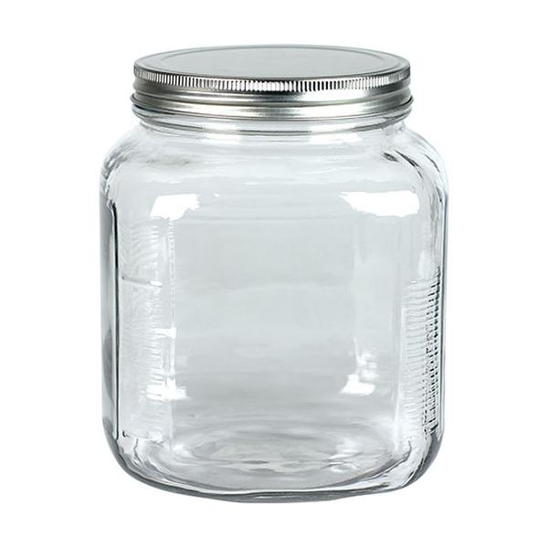 Frontier 8490 2 qt Glass Jar with Metal Lid