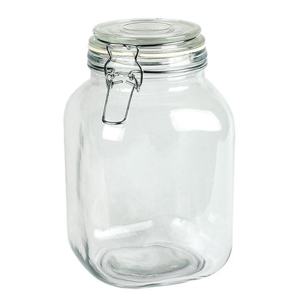 Frontier 8491 67 oz Glass Jar with Hermes Clamp Top Lid