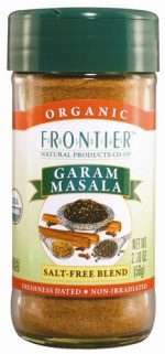 Frontier Garam Masala Certified Organic Salt Free Blend 2-Ounce Bottle
