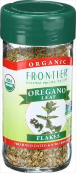 Frontier Herb 0.36 Ounce Oregano Leaf Organic Flake Cut And Sifted - Fancy Grade