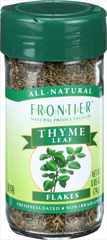 Frontier Herb 0.85 Ounce Thyme Leaf Flakes Cut And Sifted Fancy Grade