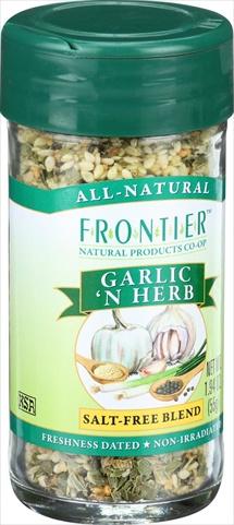 Frontier Herb 1.68 Ounce Garlic N Herb Seasoning Blend