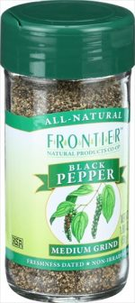 Frontier Herb 1.8 Ounce Black Pepper Medium Grind