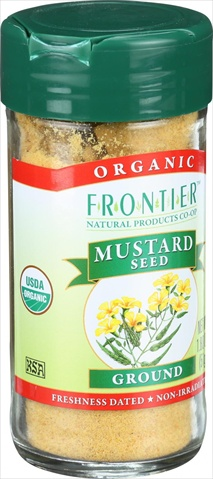 Frontier Herb 1.80 Ounce Organic Mustard Seed Yellow Ground