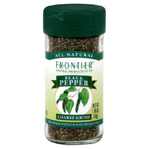 Frontier Herb Pepper Coarse Ground 1.69 Oz.