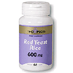 Frontier Natural Products 217866 Thompson Red Yeast Rice 600 Mg 100 Capsules